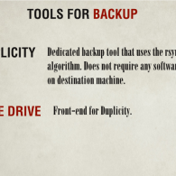 Tools for Backup