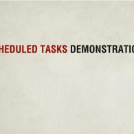 Scheduled Tasks Demonstration