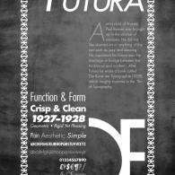 Typesheet  Showing the Futura Font