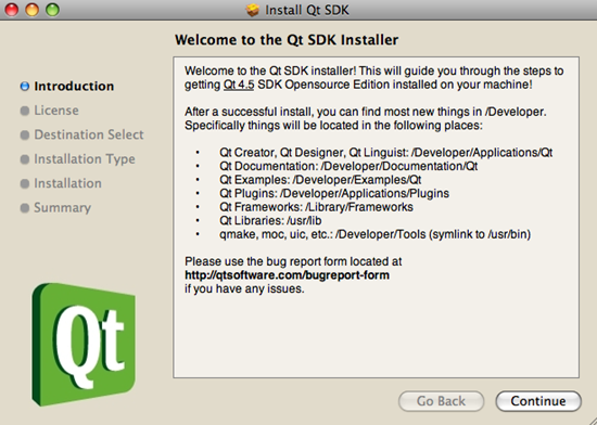 The Qt SKD Installer