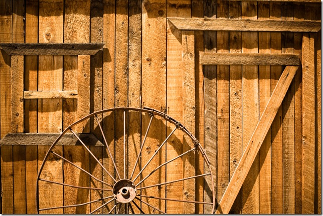 Wagon Wheel and Barn - Morgan, Utah