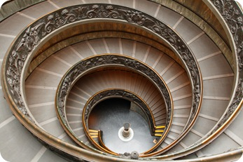 Staircase at the Vatican Museum