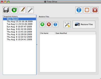 Time Drive 0.1.5 - Main Window