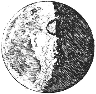 Galileo Moon Sketches - Half Full 2