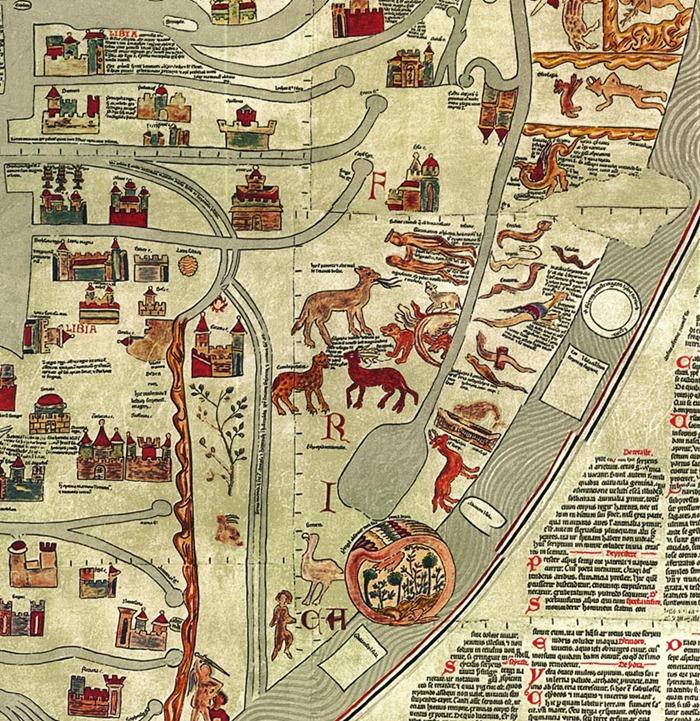 Ebstorf Map - Africa Detail