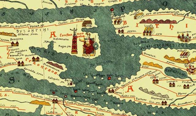Tabula Peutingeriana Constantinople Detail