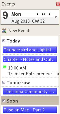 Thunderbird 3.1 - Revised Sidebar