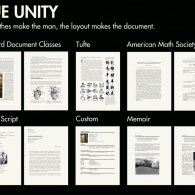 Examples of the document layouts available using LaTeX