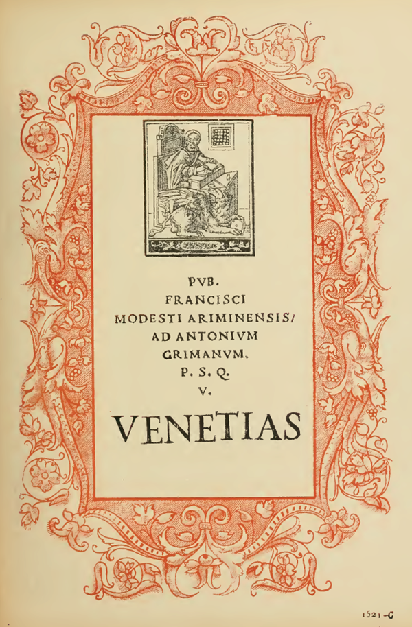 Title Page Engraving, With Decorative Border