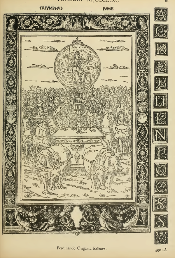Full Page Engraving, 15th Century