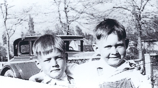 Grandpa Stillman and brother, Richard (circa 1932)